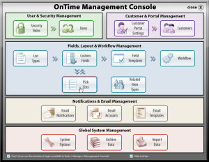 OnTime V8.1 Management Console